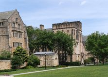 耶鲁大学校园 免版税库存图片