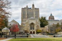 耶鲁大学的纯正的纪念图书馆 库存图片