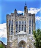 耶鲁大学纯正的纪念图书馆纽黑文康涅狄格 图库摄影