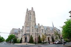 耶鲁大学谢菲尔德科学教学楼华丽维多利亚女王时代的塔 库存照片