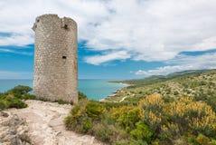 耸立在地中海海岸在西班牙 免版税库存图片
