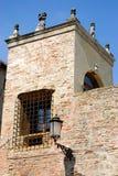耸立在街道Tati在帕多瓦在威尼托(意大利) 免版税库存图片