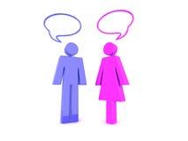 聊天的人妇女 免版税图库摄影