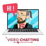 聊天的传染媒介 闲谈消息 技术沟通 泡影讲话消息 被隔绝的平的动画片例证 库存例证