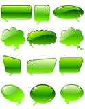 聊天绿色 库存照片