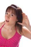 聋女孩 免版税库存图片