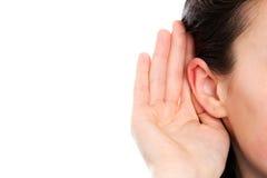 聋妇女 免版税库存照片
