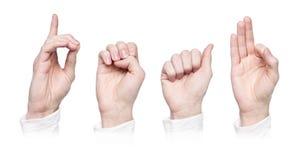 聋语言符号字 库存图片