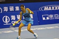 职业网球比赛 库存照片