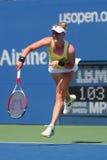 职业网球球员从美国的艾莉森Riske在美国公开赛2014比赛期间 免版税库存图片