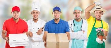 职业职业教育训练行业医生烹调小组年轻人拉丁人工作镇 免版税库存照片