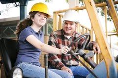 职业训练在建筑 免版税库存图片