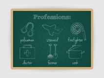 职业集合,工作行业 向量 免版税库存图片