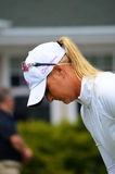 职业高尔夫球运动员安娜Nordqvist毕马威妇女的PGA冠军2016年 免版税图库摄影