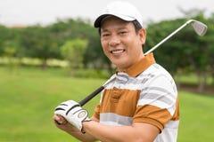 职业高尔夫球运动员 免版税库存图片