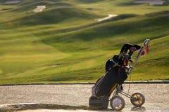 职业高尔夫球齿轮 库存图片