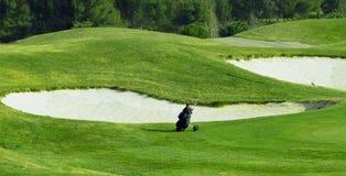职业高尔夫球齿轮 免版税库存照片