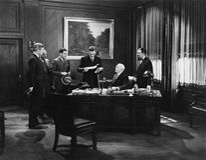 职员会议(所有人被描述不更长生存,并且庄园不存在 供应商保单将没有模型r 免版税库存图片