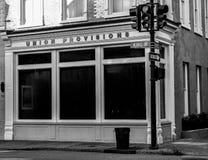 联合供应, Street,查尔斯顿, SC国王 免版税库存图片