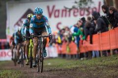 联合利华世界冠军Cyclocross -赫斯登Zolder,比利时 免版税库存图片