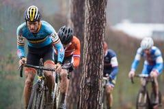 联合利华世界冠军Cyclocross -赫斯登Zolder,比利时 库存图片