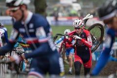 联合利华世界杯Cyclocross - Hoogerheide,荷兰 库存图片