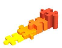 联合四个梯子难题的明亮 免版税库存图片