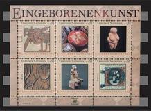 联合国原史艺术2004邮票 免版税图库摄影