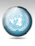 联合国旗子按钮 皇族释放例证