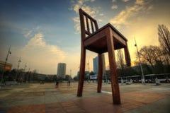 联合国日内瓦椅子 免版税库存照片