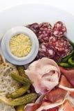 联合国法国人早午餐的猪肉 库存图片