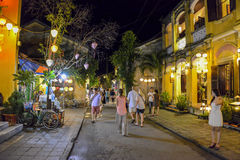 联合国科教文组织世界遗产名录站点会安市,越南 图库摄影