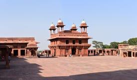 联合国科教文组织世界遗产名录站点法泰赫普尔西克里,印度 库存照片