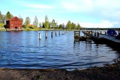 联合国科教文组织世界遗产名录站点Borgvik矿,瑞典 库存照片