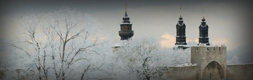 联合国科教文组织世界遗产名录站点Visby.GN 免版税库存照片