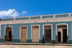 联合国科教文组织古巴大厦和建筑学在特立尼达 免版税图库摄影