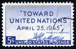 联合国邮票 免版税库存图片