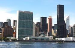 联合国总部大楼NYC 免版税库存照片