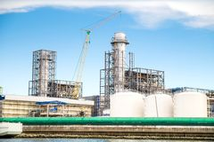 联合循环能源厂 免版税图库摄影