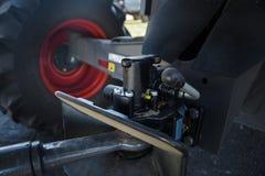 联合收割机和拖车的汇编倒栽跳水的 免版税图库摄影