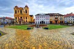 联合正方形,蒂米什瓦拉,罗马尼亚 免版税库存照片