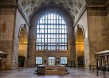 联合火车站窗口 库存照片