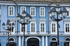 联合的Squar塞尔维亚公共议院 免版税库存照片