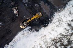 联合矿业露天开采矿 库存照片