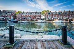 联合码头,在Harborfront在波士顿,马萨诸塞 图库摄影