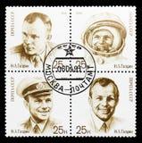 联合问题Y 加加林,第一个人第30周年空间的s 免版税库存图片