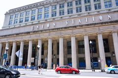 联合驻地在芝加哥,美国 库存图片