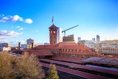 联合驻地火车运输复杂修造的尖沙咀钟楼 库存照片