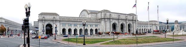 联合驻地华盛顿特区的火车终点 库存图片