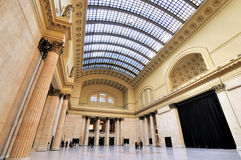 联合驻地里面,芝加哥 免版税库存照片